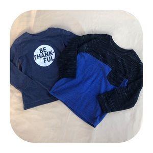 2 Long Sleeve Shirt Bundle Boys 3T